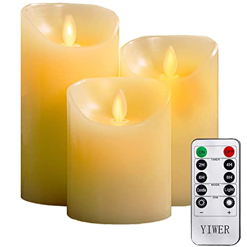 LED Candles Battery Operated Candles Electric Unscented Candles with 1 Remotes Timer Control Flameless Candles Flickering 12 Packs H 5 x D 2.2