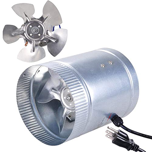 """4/"""" 6/"""" Inline Duct Fan Booster Exhaust Blower Air Cooling Vent Metal Blades UK"""