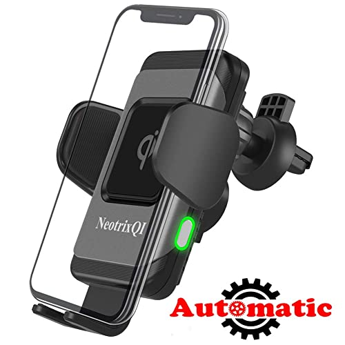 DINTO Wireless Car Charger Mount 15W Qi Fast Charging Car Phone Holder with QC3.0 Car Charger Windshield Dashboard Air Vent Mount for iPhone Xs//Max//X//XR//8//8 Plus Samsung Note 9//S9//S9+//S8//Note 8