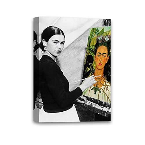 The Two Fridas 1939 by Frida Kalo Portrait Woman Spanish Print Poster 11x14