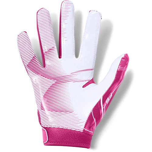 Under Armour Boys F6 Football Gloves 002 Youth Large //Neon Coral Black