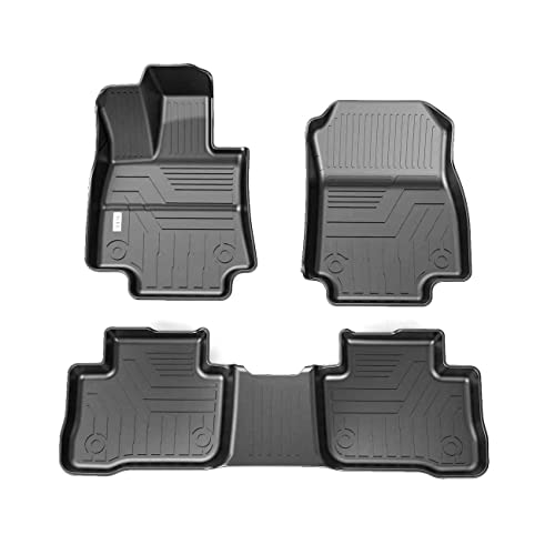 orealtrend Black TPO Floor Mats Liners for Toyota RAV4 2014 2015 2016 2017 2018 not for rav4 Hybrid Heavy Duty All Weather Guard Front and Rear Car Carpet-Custom Fit-Tough//Durable//Odorless