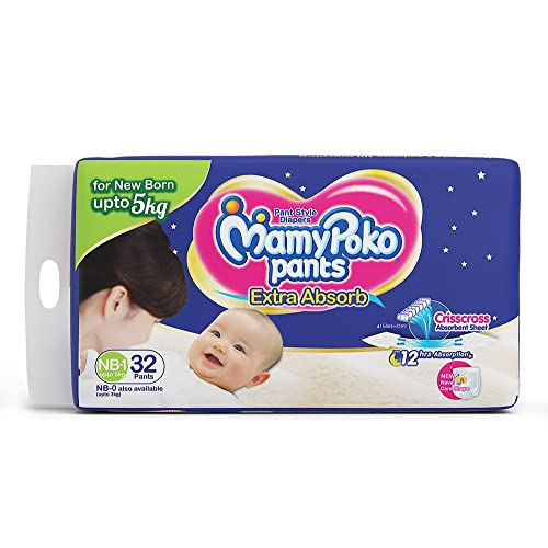 MamyPoko XXXL Size Diapers 18 to 35 kg Extra absorb Diapers Pants 7 Count