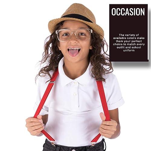 Adjustable 1 Wide Suspender Set for Child and Girls Trilece Boys Kids Suspenders Bowtie Set