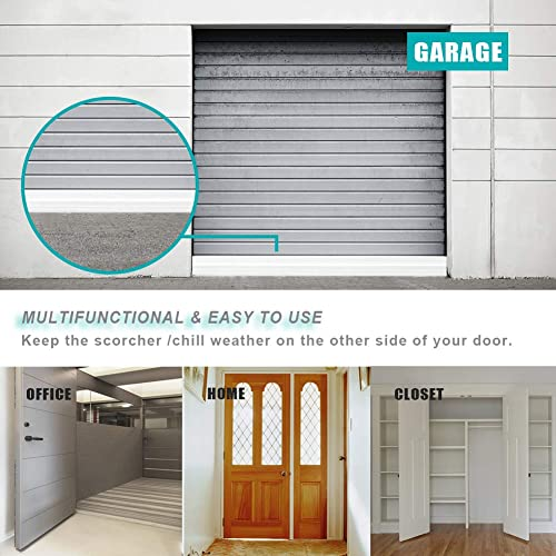 Dust Widened Door Sweep Grey Guard Against Drafts 3-2//5W x 39 L Door Bottom Seal with Wider Strong Adhesive for Interior//Exterior Doors Noise and Animals Large Gap Door Draft Stopper