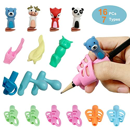 8PCS Hollow Ventilation Pencil Grips for Kids Handwriting Pencil Grip Posture Correction Training Writing AIDS for Kids Toddler Preschoolers Students Children Special Needs Pencil Grips