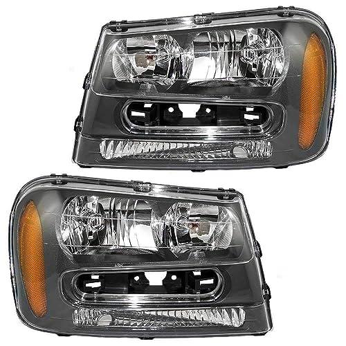 AmeriLite Black Replacement Headlights Set for 02-05 Dodge RAM 1500 2500 3500 Truck Passenger and Driver Side