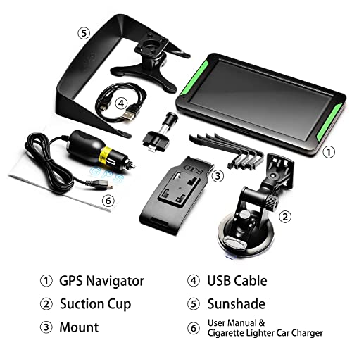 """Buy GPS Navigation for Car, LTTRBX 7"""" Touch Screen 8GB Real"""