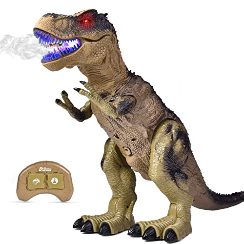 LED Walking Dinosaur Roaring Dino Robot Jurassic Animal Toy Xmas Gift Green