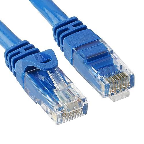 Ethernet Patch Cable High-Speed Cat 6A RJ-45 Connectors PVC Jacket Blue 3-Ft