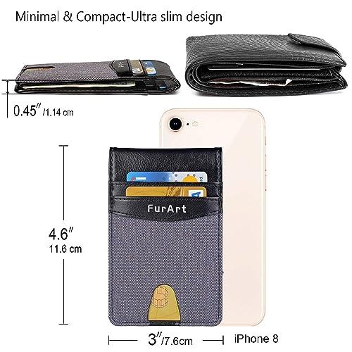 Slim Wallet FurArt RFID Blocking Leather Bifold Wallet for Men /& Women