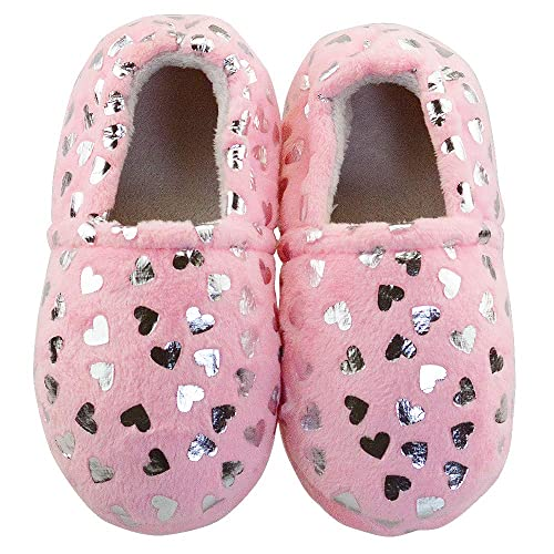 Little Girls Unicorn Faux Fur Slipper Boots Indoor Warm Fleece Winter Slip-On