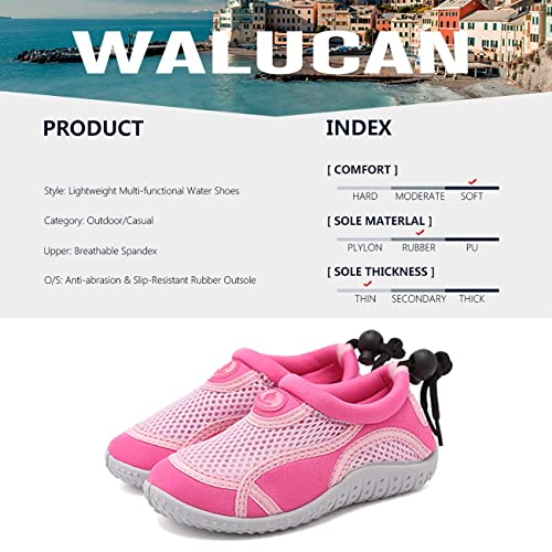 Toddler//Little Kid//Big Kid WALUCAN Girls /& Boys Water Shoes Aqua Shoes Athletic Sneakers Lightweight Sport Shoes