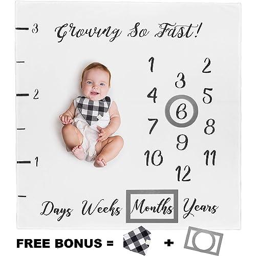 New Mom Baby Shower Gifts Baby Monthly Milestone BlanketNewborn Boy /& Girl