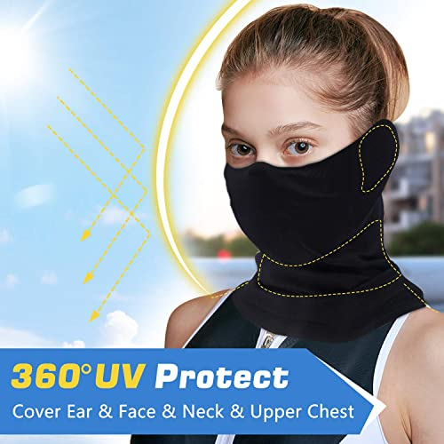 Mens Sun UV Protection Face Mask Neck Gaiter Scarf Sunscreen Breathable Bandana for Summer Cycling Hiking Fishing