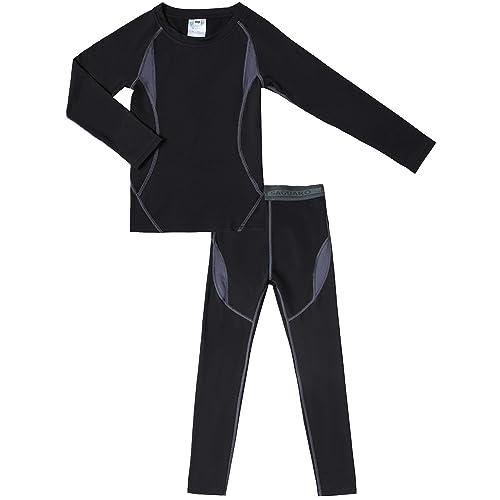 Bienzoe Boys High Tech Fiber Thermals Long Johns Tops /& Pants Set