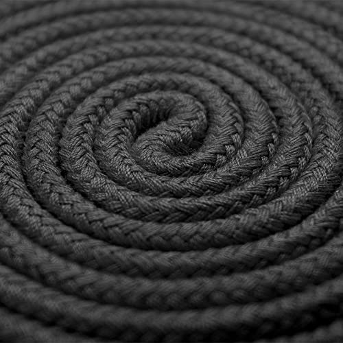 KINJOEK 1 Ropes 10M 32Ft Extra Long Premium Cotton Rope No Fraying Black