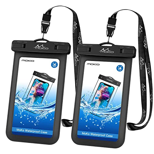 ArcticWhale Waterproof Phone Pouch 2-Pack Cellphone Dry Bag Water Proof Pouch IPX8 Case with Adjustable Lanyard Universal Compatible for iPhone Samsung up to 6.5