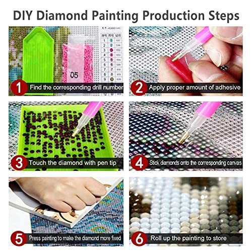 Home Wall Decor for Living Room 17-by-21 inches 5D DIY Diamond Painting Full Crystal Drill Diamond Painting Sunny Beach