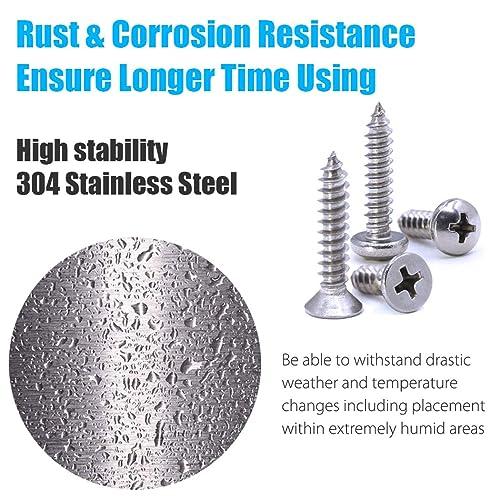 304 Stainless Steel Flat Head Cap Self Tapping Sheet Metal Screws M3 M4 M5 M6