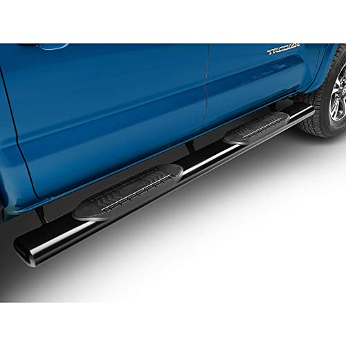 Duratrek 5 Inch Oval Bent End Side Step Bars Black for Colorado//Canyon Extended Cab 2015-2019