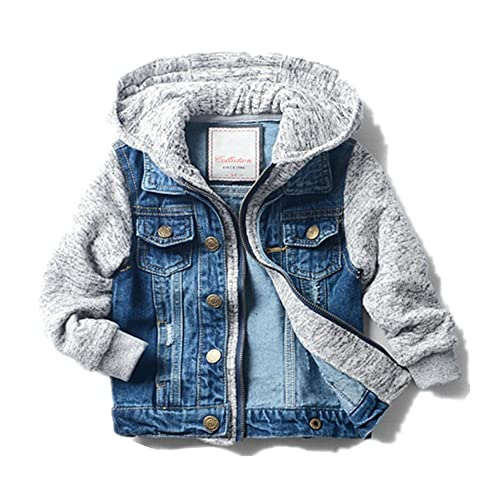 SITENG Boys Kids Denim Fall Ripped Jean Jacket Coat Outwear with Hole 100/% Cotton
