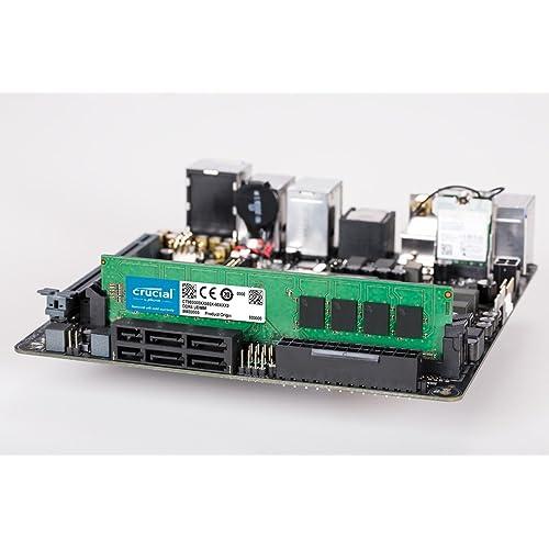 DDR4, 3200 MT//s, PC4-25600, CL22, Single Rank x8, DIMM, 288-Pin 8 GBx2 Memory Crucial 16 GB Kit