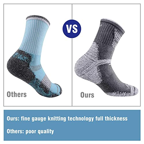 Hiking Walking Socks For Women FEIDEER Multi-pack Outdoor Recreation Socks Moisture Wicking Crew Socks