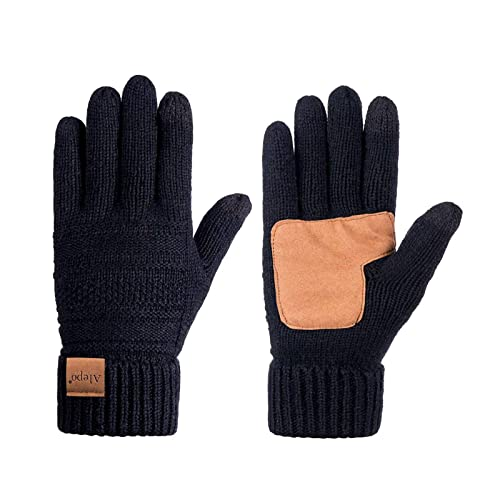 Women/'s Leather Gloves Touch Screen Thermal Thinsulate Lined Driving Warm Gloves