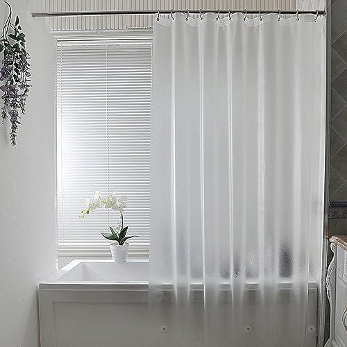 Adwaita Heavy Duty EVA Plastic Mildew Fre New 3D Water Cube Clear Shower Curtain