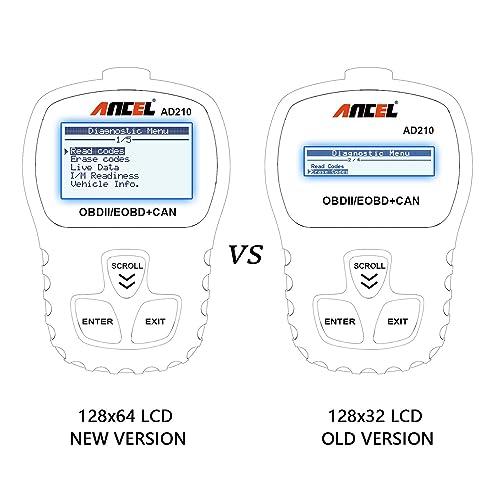 Black ANCEL AD210 OBD II Car Code Reader Automotive Vehicle OBD2 Scanner Diagnostic Scan Tool