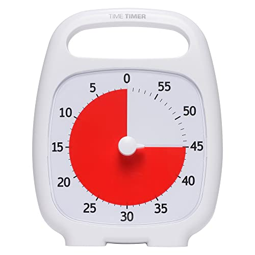 60 Minute Visual Analog Timer Silent Timer Time Management Tool for Classroom or Meeting Countdown Clock for Kids and Adults (Black)