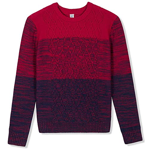 Coolred-Men Crew-Neck Striped Comfort Soft Long Sleeve Pullovers Sweater