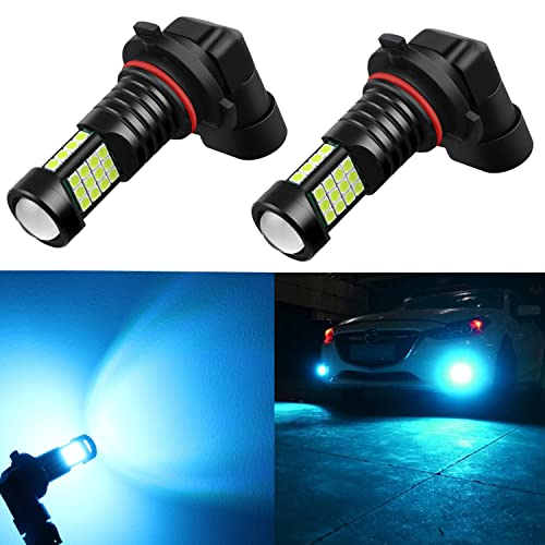 2X H8 H9 H11 Fog Driving Light Bulb LED Super Bright Blue 3030 LED Projector DRL