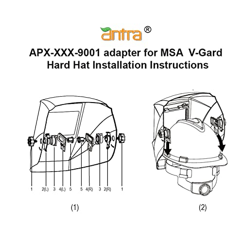 Antra APX-XXX-9002 Hard Hat Adapter Kits for Connecting Welding Helmets and Fiber Metal