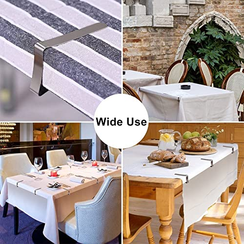 6//12pcs Camping Outdoor Picnic Party Table Cloth Cover Clips Holder Stainless