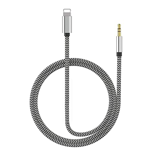 Aux Cord for Car Audio Auxiliary Cable 3FT Long Durable Pretty Tangle Free Shielded Slim Thin Noise Reducing Compatible with Home Theatre Samsung iPhone Headphones Fits LifeProof Cases by NOMX