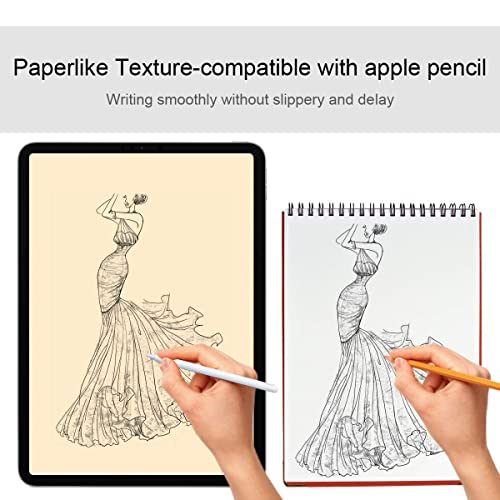 Easy Installation HD Clear Face ID and Apple Pencil Compatible Smooth Touching Tempered Glass MEGOO Apple iPad Pro 12.9 inch Glass Screen Protector,