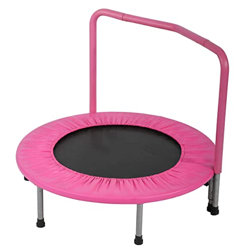 """Indoor//Outdoor 36/"""" Kid/'s Exercise Portable Trampoline Handrail/&Padded Cover"""