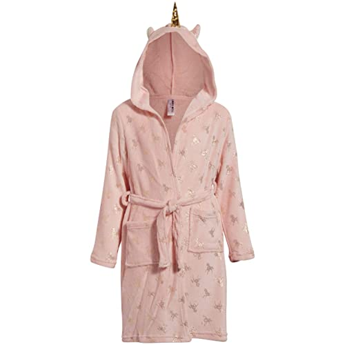 Limited Too Girls Sleepwear Plush Fleece Robe with Sherpa Shawl Trim