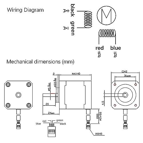Flowerw Hybrid Stepper Motor Driver Nema34 8 5n M Integrate Closed Loop Position Encoder Dc 18 50v