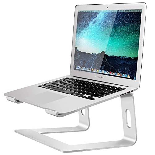 Sony Acer Samsung Aluminum Ergonomic Laptop Stand for Desk Compatible with 11 up to 15 Laptop Notebook Lenovo ASUS Silver Dell MoKo Laptop Riser Stand Such as MacBook Air//Pro