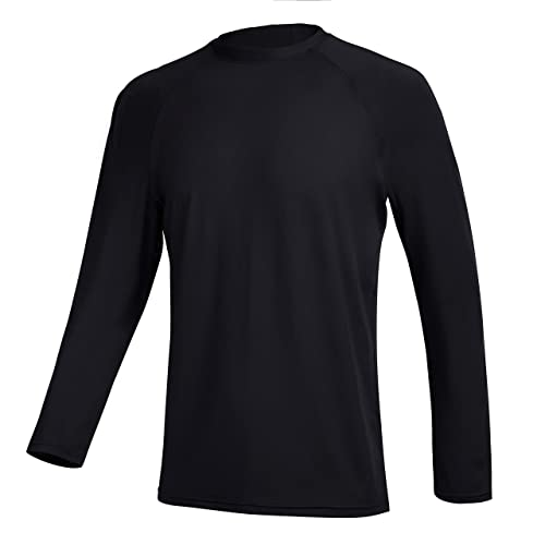RlaGed Mens UPF 50 UV Sun Protection Outdoor Long Sleeve Breathable Running Fishing T-Shirt for Men