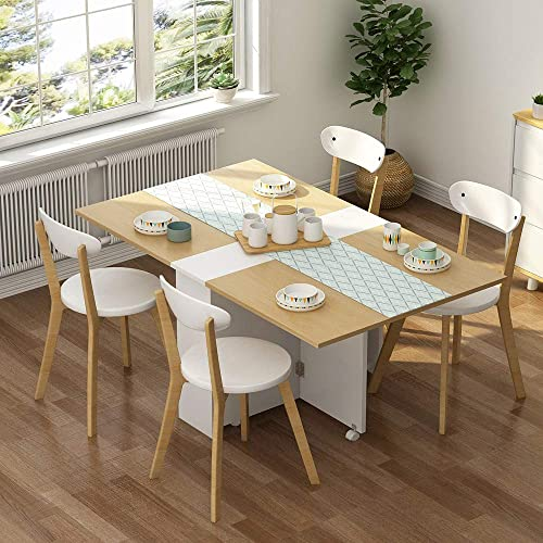 Tribesigns Folding Dining Table Set