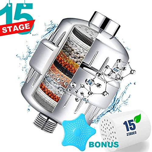 2 Pack Cali Tropical Rain 15 Stage Shower Filter Replacement Cartridge