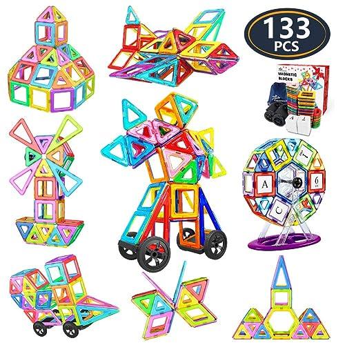 1 Pcs Trapezoid Magnetic Toys Color random Magnetic Building Blocks Child Games