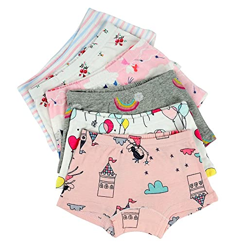 Pack of 6 Kidear Toddller Girls Underwear Baby Soft Cotton Panties Little Kids Assorted Briefs
