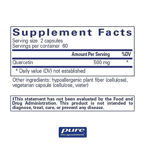 Hypoallergenic Supplement with Bioflavonoids Quercetin Pure Encapsulations