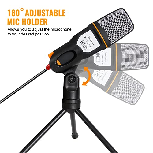 TONOR PC Microphone USB Computer Condenser Studio Mic Plug /& Play with Tripod Stand for Chatting//Skype//Facetime//Youtube//Recording//Singing//Podcasting for iMAC PC Laptop Desktop Windows Computer
