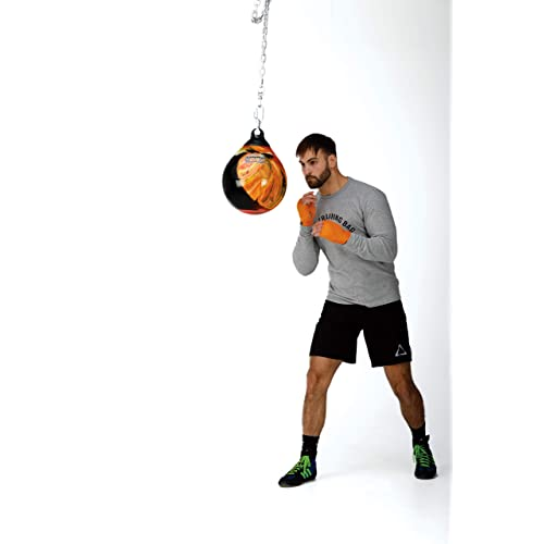 Fireball Orange Aqua Head Hunter 12 Inch 35 Pound Slip Ball Punching Bag NEW